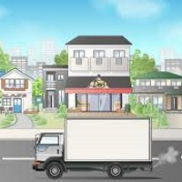 街を走るトラック