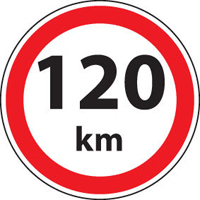 120km標識