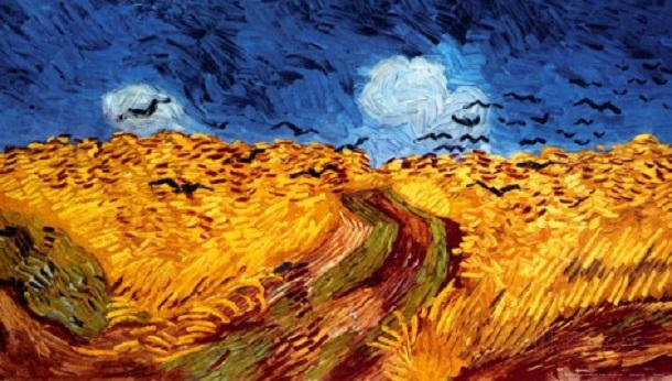 ヴィンセント-ヴァン・ゴッホ-荒れもようの空に烏の群れ飛ぶ麦畑[1]