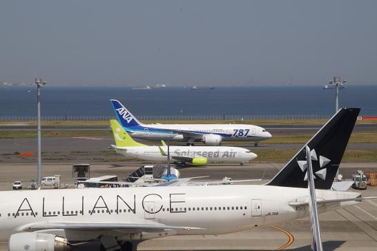 全日空ANA-787とソラシドエアー