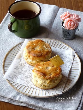 オレンジピールと紅茶のスコーン