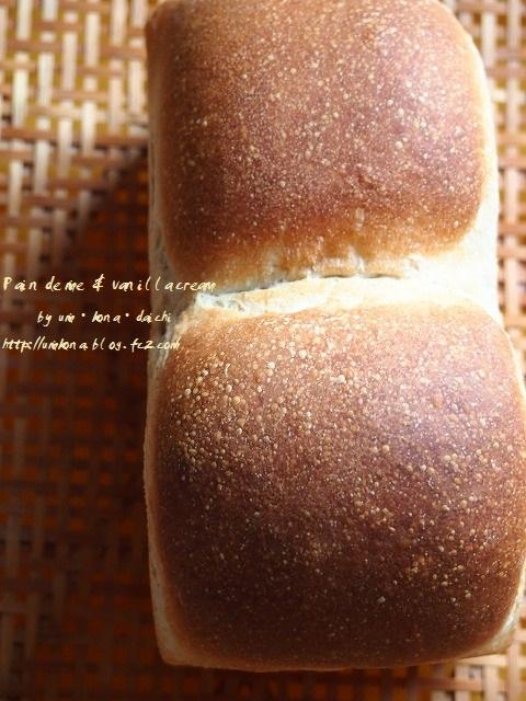 食パンとバニラクリーム6