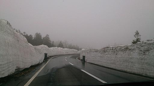 雪の回廊がはじまりました