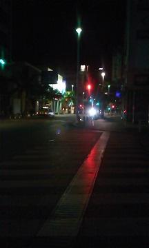 夜明け前の国際通り