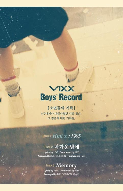 VIXX リメイクアルバム BOYS' Record