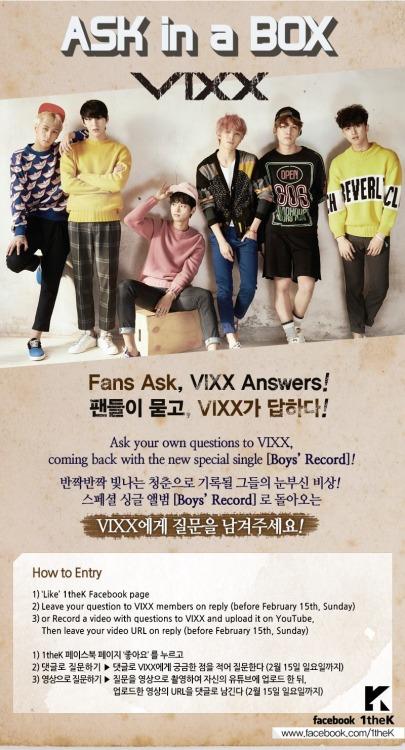 VIXX リメイクアルバム BOYS' Record 1