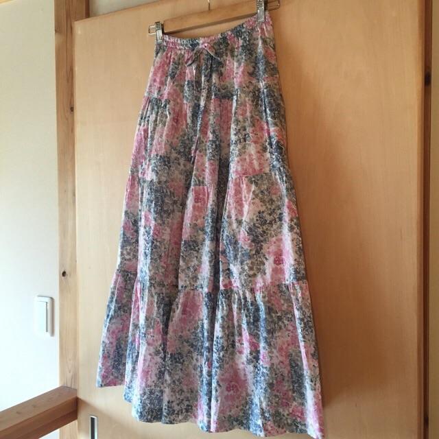 春色ティアードスカート1