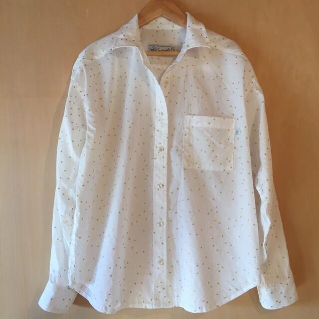 星の綿麻シャツ1