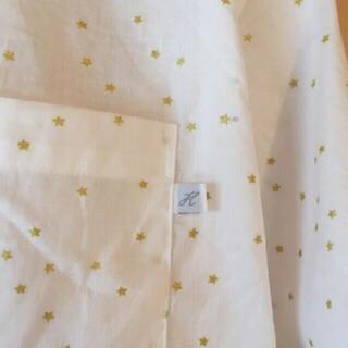 星の綿麻シャツ3