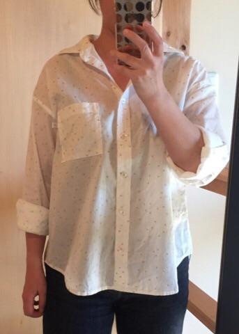 星の綿麻シャツ5