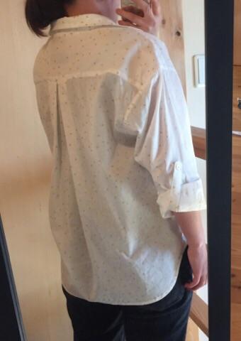 星の綿麻シャツ6