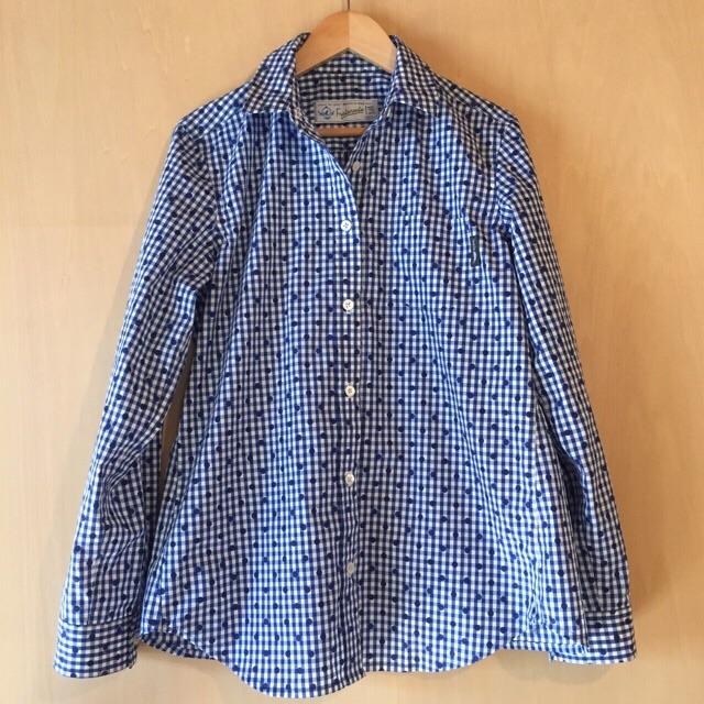 ギンガムドットシャツ1