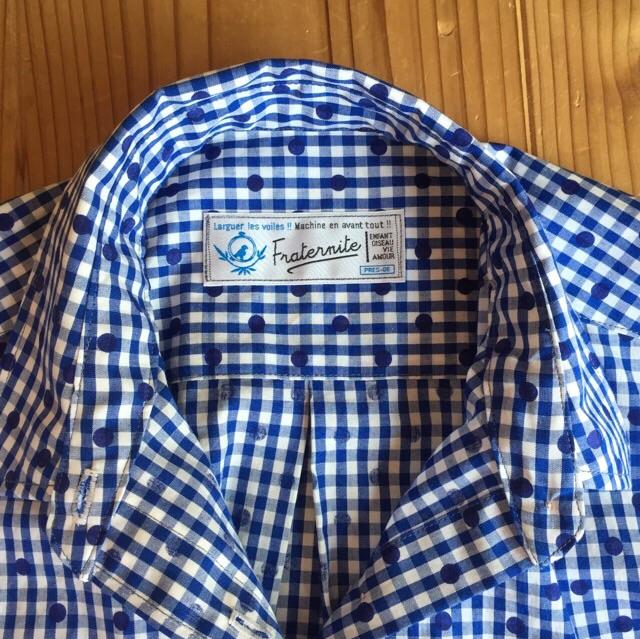 ギンガムドットシャツ3