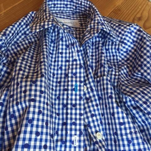 ギンガムドットシャツ5