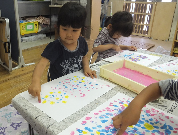 あじさい制作(3歳児以上)2