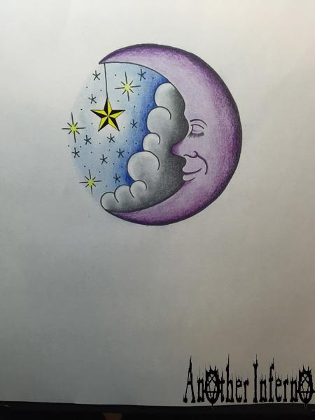 名古屋 タトゥー 月 顔 星 スター