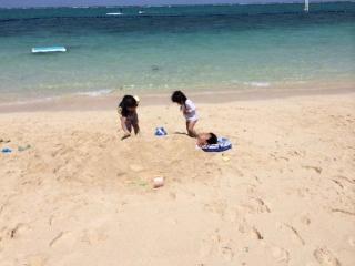 ビーチ埋まってる