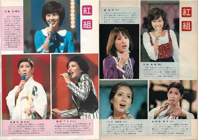 紅白紅組雑誌から1972-3-200