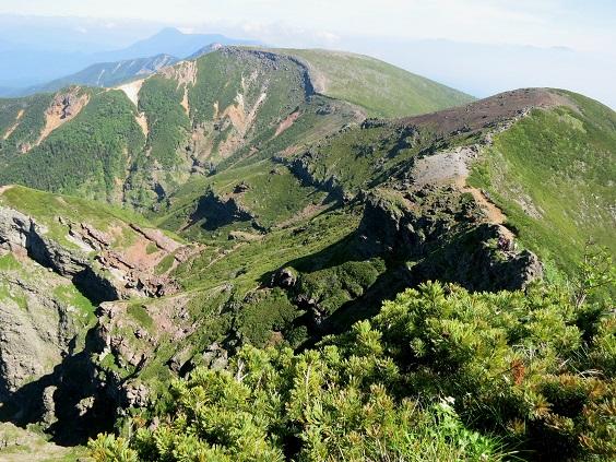 10硫黄岳への稜線