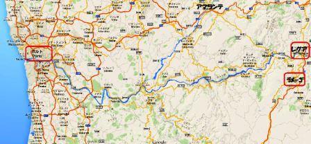 ドウロ川地図