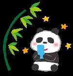 予定表用画像(パンダと笹の葉)