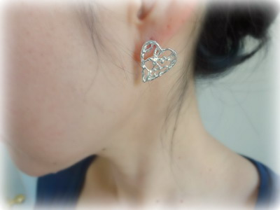 着用写真 lacy earrings