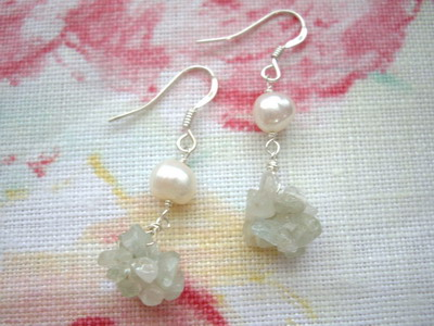 beads ball earrings