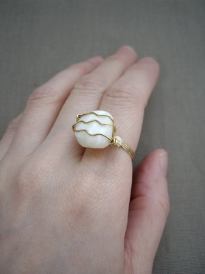 chunky wire wrapped ring