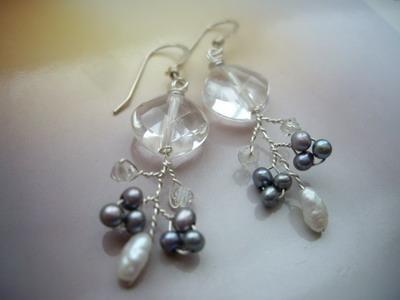 wire branch earrings