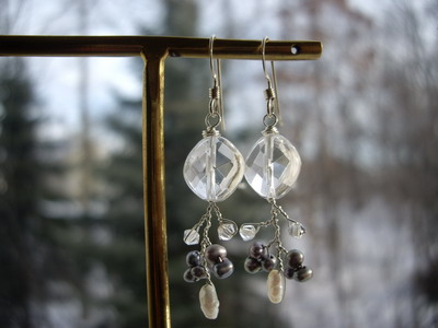 wire branch earrings