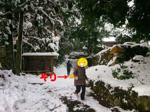 雪の中の帰省