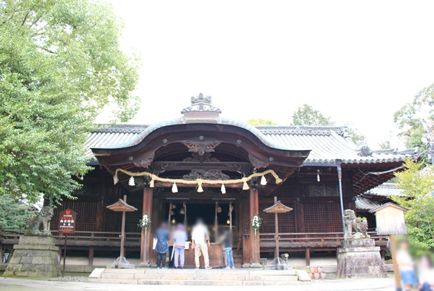 向日神社と長岡宮跡