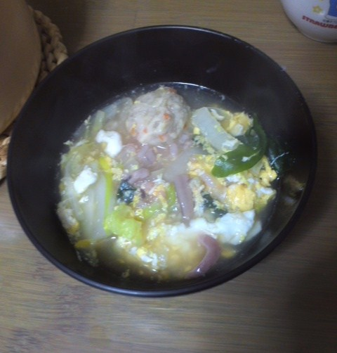 塩辛スープかけご飯