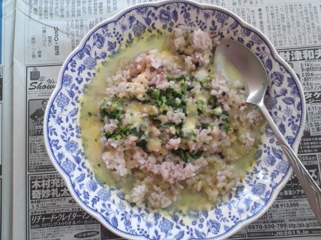 スープかけリゾット風ご飯