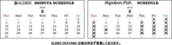 2015年5月カレンダーブログ用