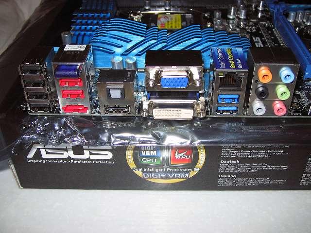 ASUS P8Z68-V PRO/GEN3 バックパネルコネクター