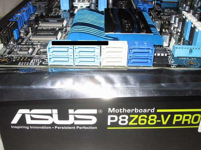 ASUS P8Z68-V PRO/GEN3 Intel Z68 SATA 3Gb/s・6Gb/s コネクター 、 Marvell SATA 6Gb/s コネクター