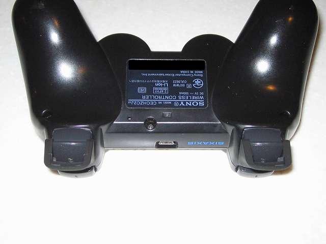 DS3 Dualshock3 デュアルショック3 Wireless Controller Black CECHZC2J A1 アタッチメント用 アンサー PS3用 プレイアップボタンセット ブラック 表面ラバー加工 L2・R2 ボタンアタッチメント取り付け コントローラー本体下部プラスチックカバーから撮影