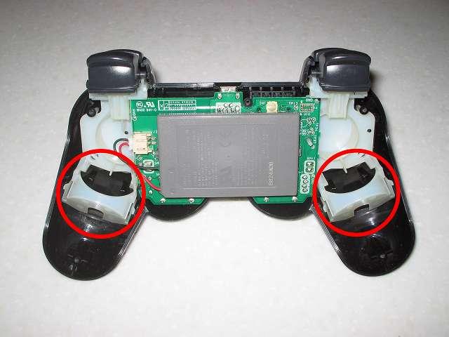 DS3 Dualshock3 デュアルショック3 Wireless Controller Black CECHZC2J A1 振動モーター取り付け位置の確認
