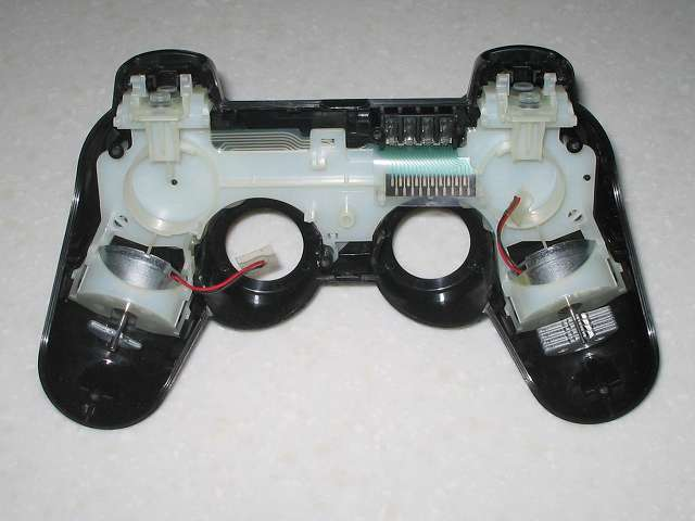 DS3 Dualshock3 デュアルショック3 Wireless Controller Black CECHZC2J A1 コントローラー本体に振動モーターを取り付けた基板固定用白いプラスチック台座を取り付け