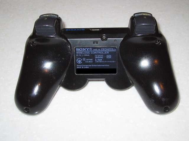 DS3 Dualshock3 デュアルショック3 Wireless Controller Black CECHZC2J A1 裏面