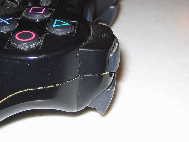 DS3 Dualshock3 デュアルショック3 Wireless Controller Black CECHZC2J A1 R1・R2 ボタン付近の汚れ