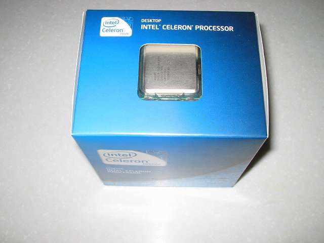 Intel Celeron G540 外箱 上部