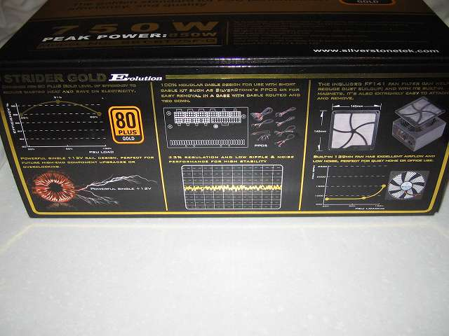 SilverStone STRIDER Gold Evolution SST-ST75F-G-E 外箱側面 その2