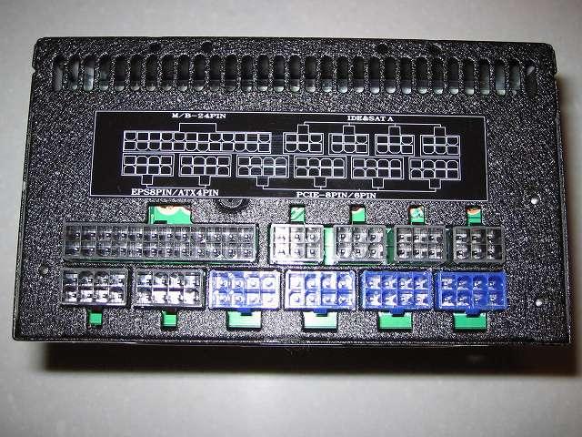 SilverStone STRIDER Gold Evolution SST-ST75F-G-E 電源ユニット本体 コネクタ側(ケーブル無)
