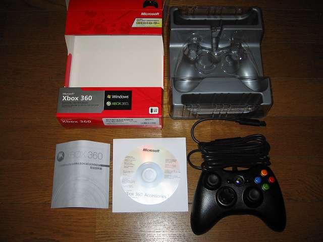 [モンスターハンター フロンティアオンライン推奨] マイクロソフト有線 ゲームコントローラーXbox 360 Controller for Windows リキッド ブラック 52A-00006 開封・付属品取り出し