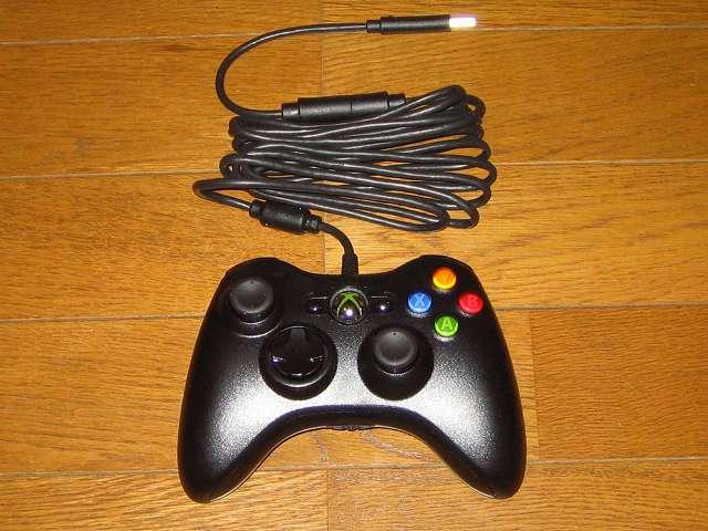 [モンスターハンター フロンティアオンライン推奨] マイクロソフト有線 ゲームコントローラーXbox 360 Controller for Windows リキッド ブラック 52A-00006 コントローラー本体