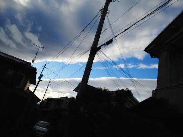 1直線の空