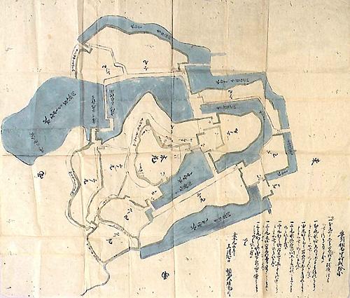 奥州相馬中村城絵図