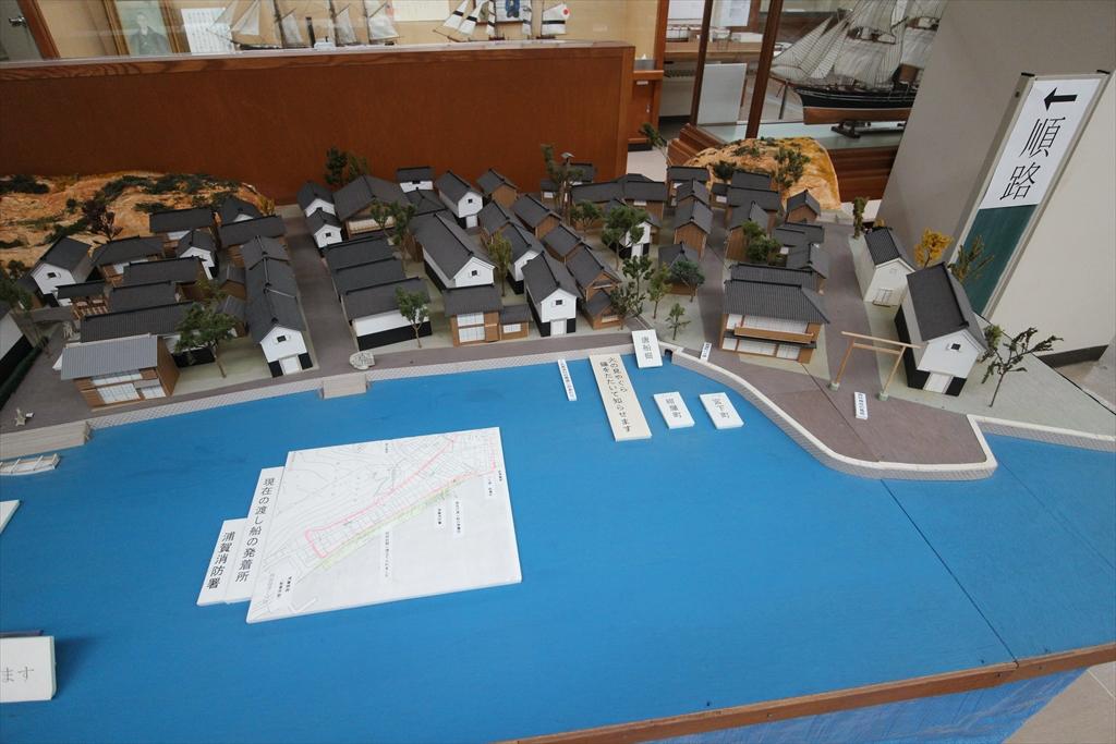 幕末の西浦賀の街の模型_3